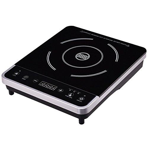 Countertop Induction Range Cooker Electric 120V Single Burner Digital Hot Plate MD Group ()