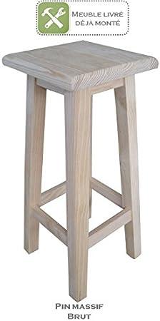 Fabrication Artisanale Meuble Tabouret De Bar Haut Avec Assise
