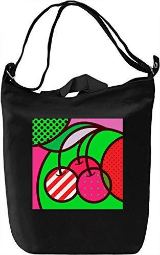 Cherry Pop Art Borsa Giornaliera Canvas Canvas Day Bag| 100% Premium Cotton Canvas| DTG Printing|