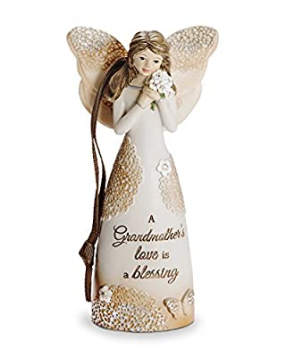 Pavilion Gift Company 19111 Grandmother Angel Figurine with Ribbon for Hanging, 4-1/2""