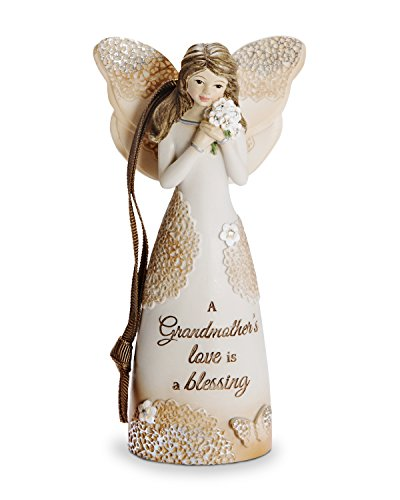 Pavilion Gift Company 19111 Grandmother Angel Figurine with Ribbon for Hanging, 4-1/2