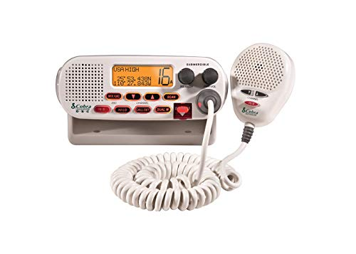 COBRA MRF45D Marine Radio - 2-Way Submersible Long Range Fixed Mount Class-D DSC with NOAA Weather Alerts, 1 or 25 Watt Selectable Output VHF Radio, Illuminated Display & International Coverage for USA/Canada