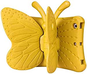 Beautiful Yellow 3D Kids Cute Butterfly Shockproof EVA Foam Stand Cover For iPad Mini 3 2 1 Case
