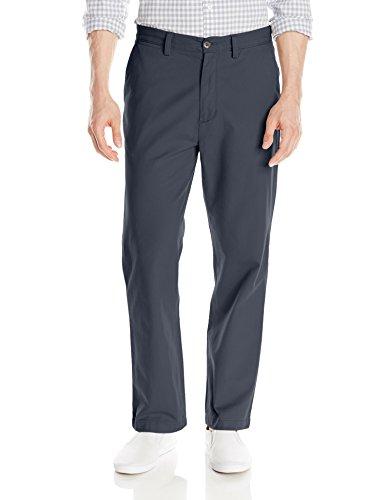Nautica Sportswear Mens Flat Front (Nautica Men's Classic Flat Front Deck Pant, True Navy, 36Wx30)