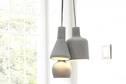 Dunord design hängelampe pendellampe b tong multi 3 beton grau