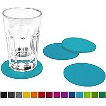 Dessous de verre FILU en feutre 8 pièces (couleur sélectionnable)