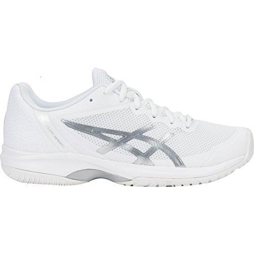 ASICS Womens Gel-Court Speed Sneaker, White/Silver, Size 5