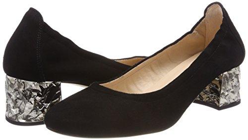 Unisa Flats black Ballet Toe ks Closed Keder Black Black Women''s rnZFfr