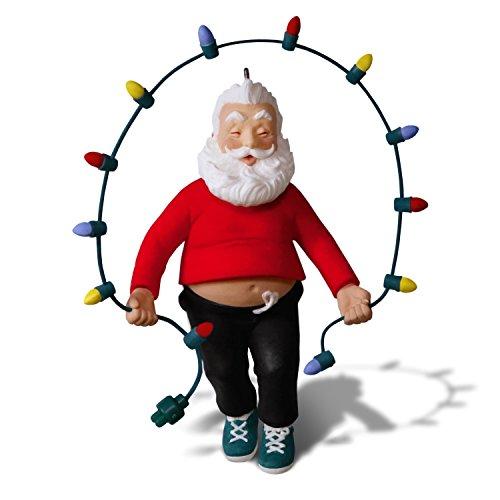 Hallmark Keepsake Christmas Ornament 2018 Year Dated Santa Jump Rope, Fitness, Jolly Ol ()