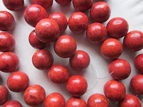 (Red Sponge Coral Chunky Beads 17-19mm 10 Beads)
