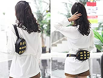 Beatfull Designer Leather Waist Bag for Women with Lion Insect Pattern