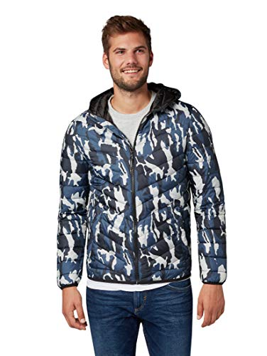 Urban Denim Tom Jacket 13064 Daunenjacke Fake Big Tailor Blue Men's Leichte Camouflage 8A5Un45q