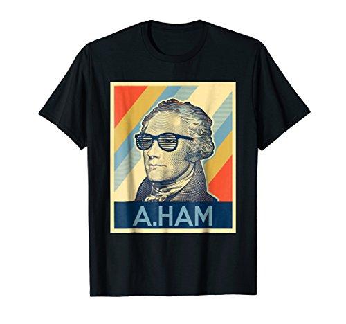 Hamilton t-shirt wearing Glasses