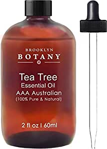 Tea Tree Oil - AAA+ (Australian) - Therapeutic Grade - 100% Pure and Natural - 2 oz with Dropper- Brooklyn Botany