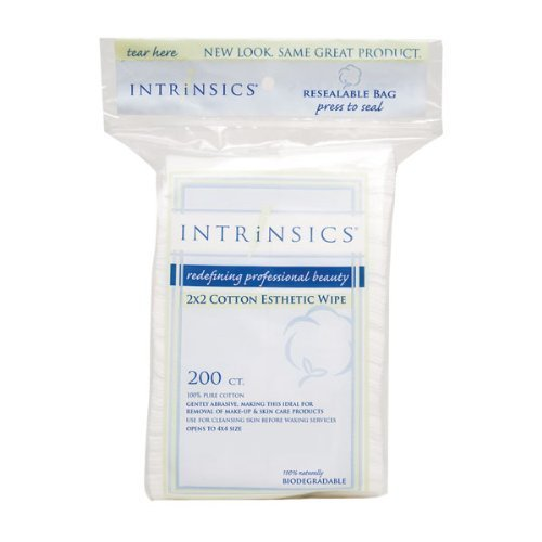 Intrinsics Cotton Esthetic Wipes, 2 X 2 Inches, 200 Count