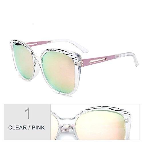 Negro Sol De Polarizadas De Sol Butterfly TIANLIANG04 Grande Plata Clear De Lujo Enormes Bastidor Gafas Pink Unas Classic Gafas Uv400 Gafas De Mujer 4qaaOwHx