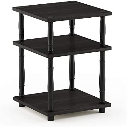 Furinno Turn-N Easy Assembly Multipurpose Shelf with Classic Tubes, Espresso Black
