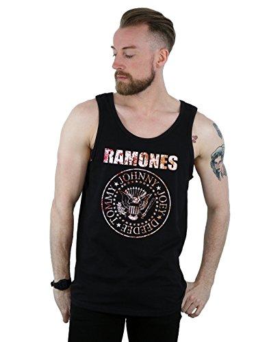 Ramones Men's Flower Rose Tank Top Medium Black