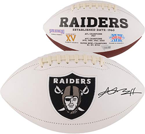 Antonio Brown Oakland Raiders Autographed White Panel Football - Fanatics Authentic Certified - Autographed - Brown Football Autographed