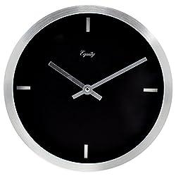 Equity by La Crosse 20776 10 Brushed Aluminum Analog Clock