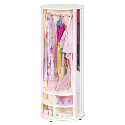 Guidecraft Dress Up Carousel – Pastel: Wardrobe for Kids, Pretend Play Storage Station with Hooks
