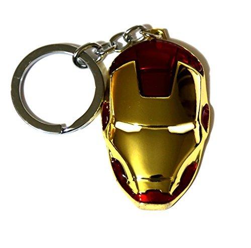 Marvel Movie Comics Avengers Iron Man Metal Mask Pendent Key Ring Key - Marketplace Mile Miracle