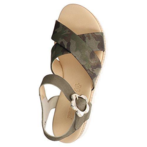 Paul Grøn Sandalette Camouflage, Farve: Oliven Oliven