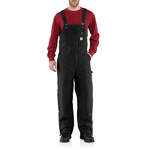 Carhartt Men's 101495 Jefferson Quick Duck Bib Overalls - Quilt Lined - 3X-Large Short - Black by Carhartt