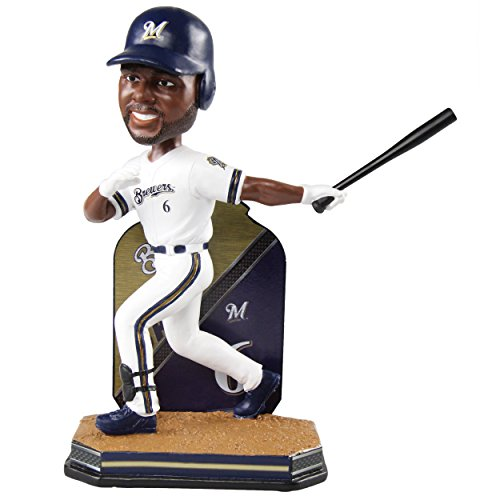 FOCO Lorenzo Cain Milwaukee Brewers Name and Number Bobblehead