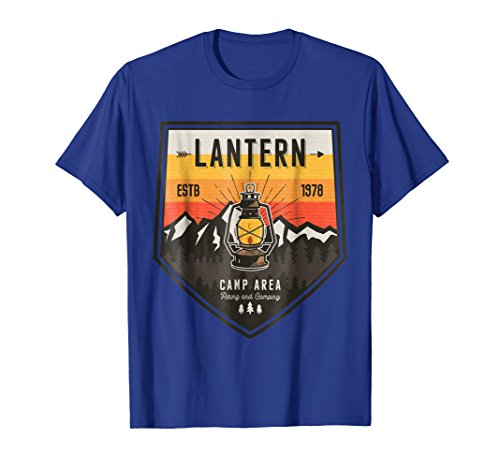 Lantern Camp Area Hiking Fishing Outdoors Shirt