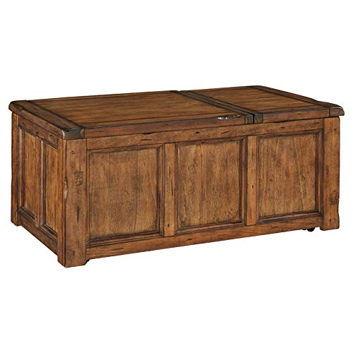 Ashley Furniture Signature Design - Tamonie Lift Top Coffee Table Rustic, - Furniture Lift Tv