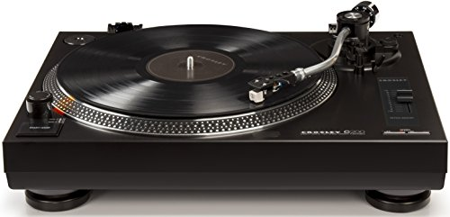 Crosley C200A-BK Direct Drive Turntable with S-Shaped Tone Arm, Black