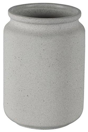 Spirella Handmade Ceramic Tumbler/Toothbrush Holder, Stone