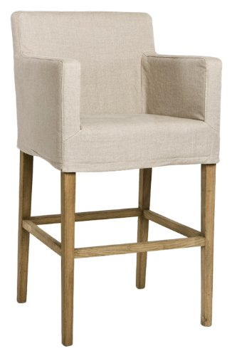 Zentique XL2001-Bar Stool E255 A003 Avignon Bar Stool with Slipcover, Natural ()