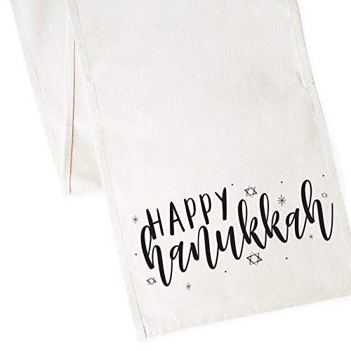 The Cotton & Canvas Co.. Happy Hanukkah Table Runner and Holiday Party -