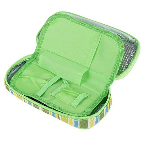 ❤️Jonerytime❤️Diabetic Organizer Medical Cooler Ice Packs Temperature Cooler Black