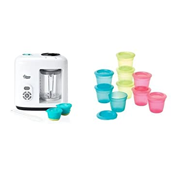Tommee Tippee Baby Food Steamer Blender Food Storage Pots