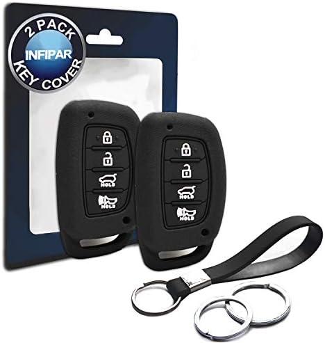 [해외]2pcs CompatibleHyundai Smart 4 Buttons Silicone FOB Key Case Cover Protector Keyless Remote Holder for 2019 2018 2017 2016 2015 2014 2013 Hyundai Elantra Sonata Tucson NOT FIT FlipPop Out Key / 2pcs CompatibleHyundai Smart 4 Button...