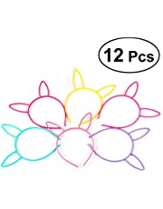 Frcolor 12pcs Bunny Ears Headband Kids Rabbit Ears Easter Party Favours Assorted Colour