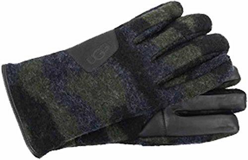 UGG  Men's Fabric Smart Gloves w/ Leather Trim Camo LG (Nylon Gloves Camouflage)