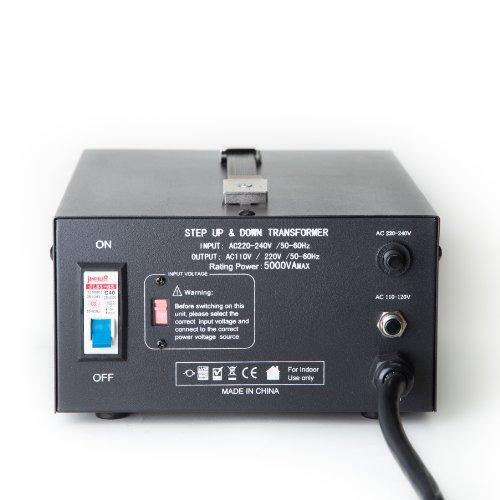 41Sqo8UXVHL - ELC T-5000 5000-Watt Voltage Converter Transformer - Step Up/Down - 110V/220V - Circuit Breaker Protection