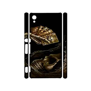 Universal 3D Hard Plastic Case Snap on Sony Xpenia Z5 Premium,Pompous Visual Playing Cards Printed Phone Case for Sony Xpenia Z5 Premium
