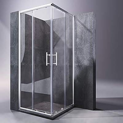 SONNI Mampara Ducha 76x70cm,Angular Puertas Corredera,Cabina de Ducha Retangular con Vidrio Templado de Seguridad 5mm: Amazon.es: Bricolaje y herramientas