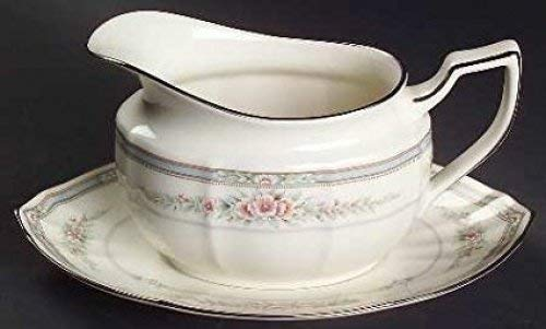 NORITAKE ROTHSCHILD GRAVY BOAT & STAND. SET OF TWO (Noritake China Boat Gravy)