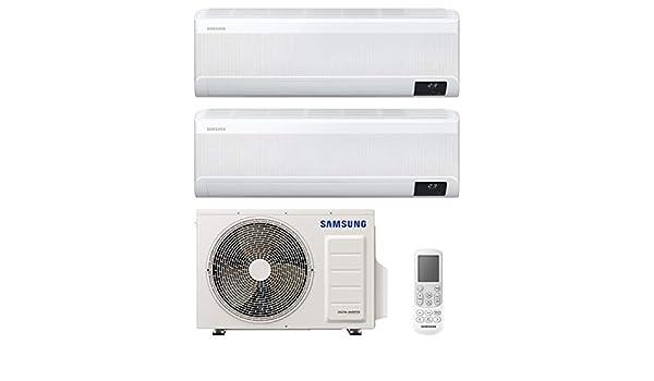 Samsung Clima WindFree Elite Climatizador Dual Split, 9000 + 12000 BTU, AR09TXCAAWKNEU+AR12TXCAAWKNEU+AJ040NCJ2EG/EU, [Clase de eficiencia energética A+++/A++]: Amazon.es: Bricolaje y herramientas