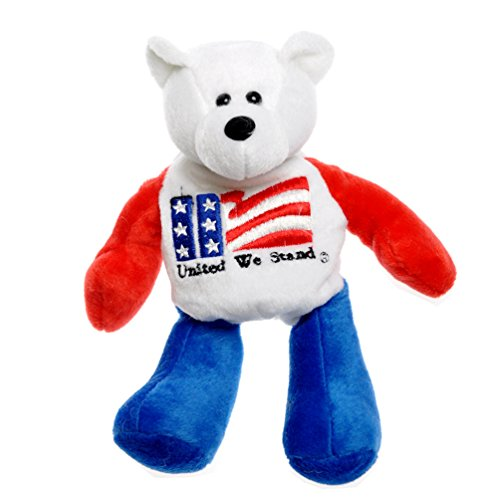 United we stand America US Flag American Patriotic Plush Stuffed Teddy Bear Doll (8.25
