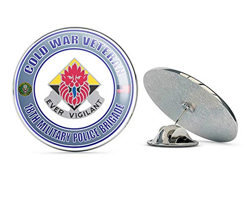 U.S. Army Cold War 18th Military Police Brigade Unit Crest Veteran Metal 0.75