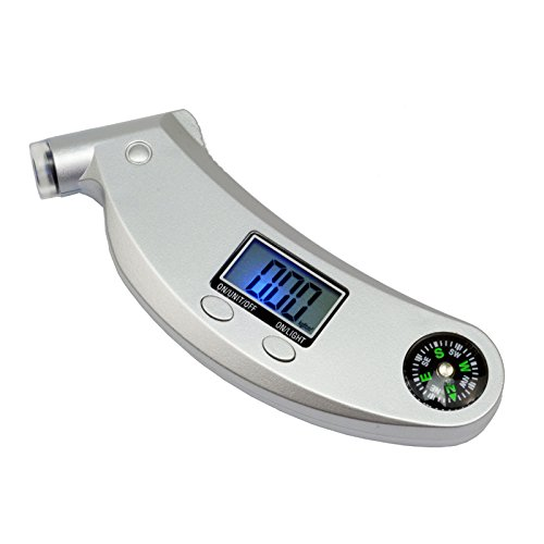3 in 1 Digital Tyre Pressure Gauge Tire Tester with Backlit LCD Display for Bicycles Motorcycles and Car Truck (Silver) Wareway
