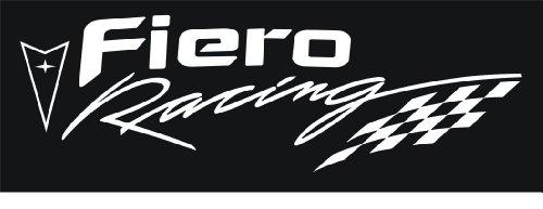 Pontiac Fiero Racing Decal (White) (Decals Racing Pontiac)
