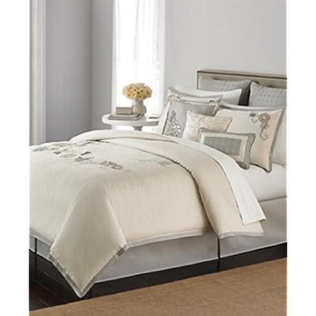 Martha Stewart Collection Flower Gallery 9 Piece King Comforter Set Bedding